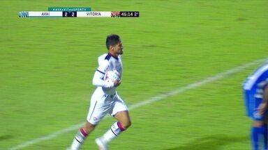 Os gols de Avaí 2 x 2 Vitória, pela 34ª rodada do Brasileirão Série B - Os gols de Avaí 2 x 2 Vitória, pela 34ª rodada do Brasileirão Série B