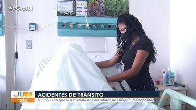 Número de acidentes de trânsito aumenta entre 2019 e 2020 no Pará - Vítimas representam quase metade dos pacientes atendidos pelo Hospital Metropolitano de Belém.