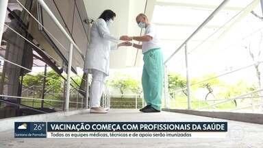 SP1 - Edição de segunda-feira, 18/01/2021 - Começa vacinação contra coronavírus nos profissionais de saúde do Hospital das Clínicas. Construção civil vive alta nas contratações e vagas de emprego devem crescer em 2021. Primeiro dia do Enem 2020 tem recorde de abstenção em São Paulo.