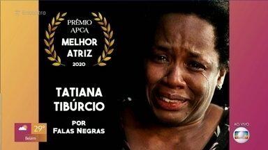Tatiana Tibúrcio ganha prêmio de melhor atriz de televisão - Atriz recebeu prêmio pela participação no especial 'Falas Negras'