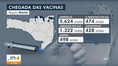 Cidades da região Norte de SC devem receber imunizantes nesta terça-feira - Cidades da região Norte de SC devem receber imunizantes nesta terça-feira