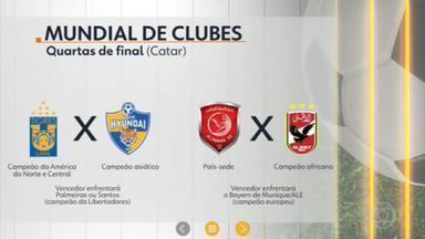 Palmeiras e Santos já sabem o caminho do título no Mundial de Clubes - Campeão da Libertadores vai enfrentar o vencedor do confronto entre Tigres (MEX) e Ulsan (COR); veja também os gols da Série B.