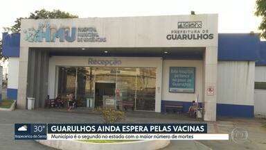 Cidades do estado de São Paulo ainda esperam pela chegada das doses da vacina Coronavac - Guarulhos tem o segundo maior número de óbitos no estado e até a manhã desta quarta-feira não tinha recebido as vacinas do governo do estado.