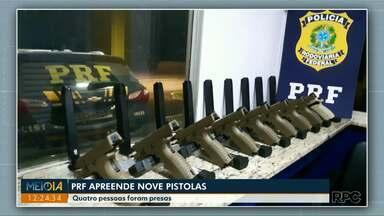 Polícia Rodoviária Federal apreende pistolas em Céu Azul - Quatro pessoas foram presas.