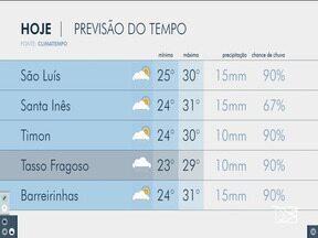 Veja as variações das temperaturas no Maranhão - Confira a previsão do tempo neste sábado (23) em São Luís e também no interior do estado.
