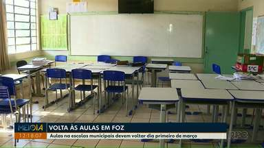 Aulas nas escolas municipais de Foz do Iguaçu devem voltar no dia primeiro de março - Houve mudança na data, antes o retorno estava previsto para 18 de fevereiro.