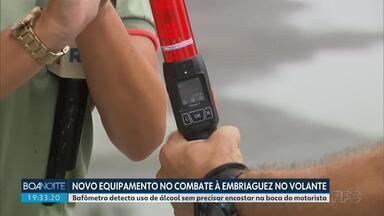 Novo bafômetro detecta uso de álcool sem encostar na boca do motorista - Polícia Rodoviária Estadual faz fiscalização no litoral do estado.