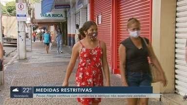 Pouso Alegre continua com comércios e serviços não essenciais fechados - Pouso Alegre continua com comércios e serviços não essenciais fechados