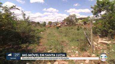 MG Móvel vai a Santa Luzia ver se esgoto foi ligado e inundações pararam - Problema é antigo para os moradores da rua Juventina Dias Teixeira, no bairro Nossa Senhora das Graças.