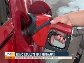 Gasolina e óleo diesel têm reajuste e consumidor reclama - O novo reajuste é de cinco por cento e ainda não chegou ao consumidor final, nas bombas de combustível.