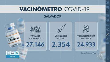 Confira dados atualizados da vacinação contra a Covid em toda Bahia - Até o momento, mais de 128 mil baianos já foram imunizados.