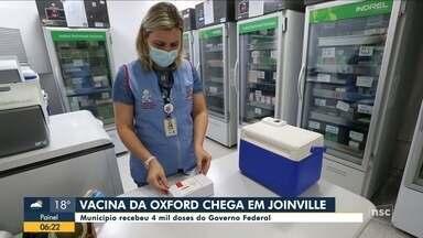 Vacina da Oxford contra a Covid-19 chega em Joinville - Vacina da Oxford contra a Covid-19 chega em Joinville