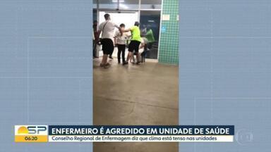 Enfermeiro é agredido em unidade de saúde de São Caetano do Sul - Conselho Regional de Enfermagem diz que clima está tenso nas unidades.