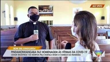 Pindamonhangaba faz homenagem às vítimas da Covid-19 - Cidade teve 102 mortes pela doença até esta sexta-feira