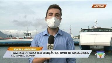 Travessia de balsa tem redução no limite de passageiros - Ideia é para tentar conter avanço da pandemia.