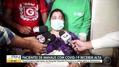 Pacientes de Manaus com Covid-19 recebem alta em Natal - Pacientes de Manaus com Covid-19 recebem alta em Natal