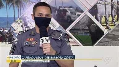 PM e Prefeitura de Santos prometem fiscalização rigorosa para a final da Libertadores - Capitão Alexandre Barbosa Costa, chefe de Operações 6ºBPMI, explicou como será feita a segurança na região.