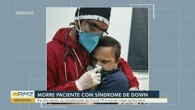 Paciente com síndrome de Down morre por complicações da Covid - Foto de enfermeiro abraçando paciente para tranquilizá-lo durante tratamento viralizou nas redes sociais. Emerson Loureiro aguardava melhora para ser transferido para Manaus.