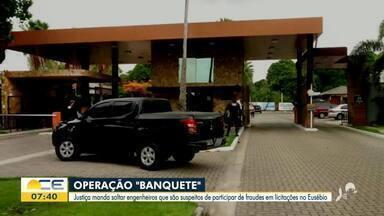 Justiça manda soltar engenheiros suspeitos de fraudes em licitação no Eusébio - Saiba mais no g1.com.br/ce