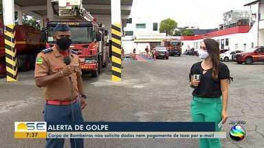 Bombeiros alertam para golpe com pagamento de taxa - Bombeiros alertam para golpe com pagamento de taxa