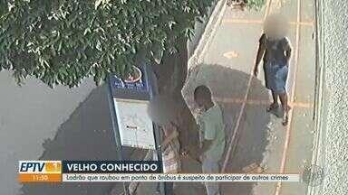 Ladrão que roubou mulheres é suspeito de outros crimes em Ribeirão Preto - Homem que assaltou vítimas em ponto de ônibus também é investigado por atirar em trabalhador.