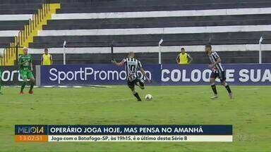 Fora de casa, Operário enfrenta o Botafogo-SP nesta sexta-feira (29) - Jogo começa às 19h15 e é o último desta Série B.