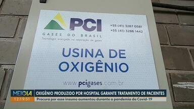 Hospital da região sudoeste do Paraná produz próprio oxigênio medicinal - Chamada de máquina do fôlego, usina funciona como um grande pulmão humano.