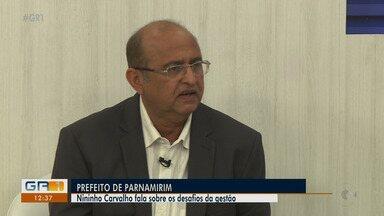 Prefeito de Parnamirim Ferdinando Carvalho fala sobre desafios da nova gestão - O prefeito comenta os planos de governo para o novo mandato, destaca as prioridades e as metas que devem ser executadas este ano.