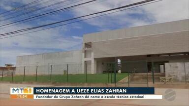 Escola recebe nome de Ueze Elias Zahran em homenagem ao fundador do Grupo Zahran - Escola recebe nome de Ueze Elias Zahran em homenagem ao fundador do Grupo Zahran