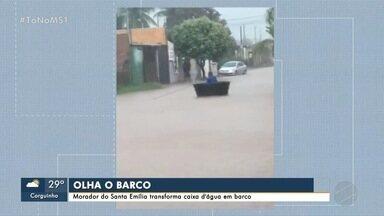 Morador do Santa Emília transforma caixa d'água em barco - MS1