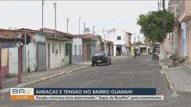 Morte de traficante desencadeia série de ameaças contra bairros de Vitória da Conquista - Em represália a morte do traficante, facções obrigaram comerciantes a fechar lojas no bairro Guarani.