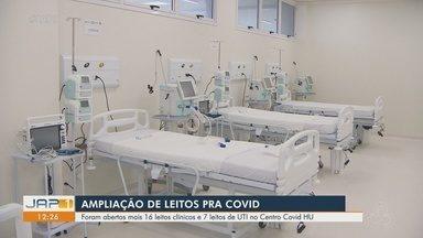 Centro Covid HU de Macapá abre mais 16 leitos clínicos e 7 de UTI - Centro Covid HU de Macapá abre mais 16 leitos clínicos e 7 de UTI