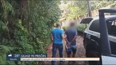 Polícia cumpre 88 mandados de prisão em ação entre quatro delegacias do litoral de SP - Ação fez parte de operação realizada pelas delegacias seccionais de Santos, Itanhaém, Registro e Jacupiranga.