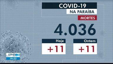 Confira os números da pandemia de coronavírus na Paraíba nesta sexta-feira (29) - São mais 11 mortes no último balanço.