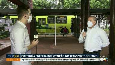 Prefeitura encerra intervenção no transporte coletivo de Foz do Iguaçu - Após 60 dias, município devolve a administração para o Consórcio Sorriso.