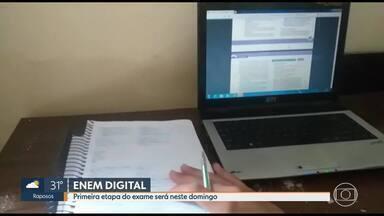 Primeira etapa do ENEM digital será neste domingo - Esta é a primeira vez que o exame será realizado dessa forma. Candidatos farão provas em 104 cidades brasileiras.