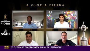 Pelé, Ronaldo e Kaká debatem final da Libertadores - Pelé, Ronaldo e Kaká debatem final da Libertadores