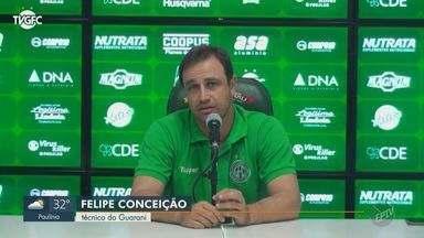 Guarani perde último jogo da Série B e técnico anuncia saída - Placar final do jogo contra o Juventude ficou em 1 a 0.