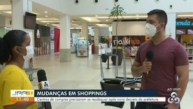 Mudanças em shoppings - Centros de compras precisaram se readequar após novo decreto da prefeitura.