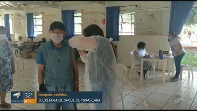 Piracicaba conclui nesta terça-feira (02) vacinação em instituições para idosos - Ao todo, vacinação na cidade contemplou 28 instituições e imunizou idosos e funcionários.