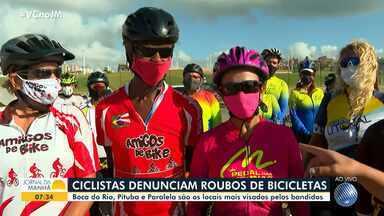 Ciclistas denunciam aumento de roubo de bicicletas em Salvador - Boca do Rio, Pituba e Paralela são os locais mais visados pelos bandidos.