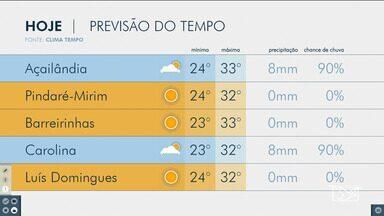 Veja as variações das temperaturas no Maranhão - Confira a previsão do tempo na manhã desta sexta-feira (5) em São Luís e também no interior do estado.