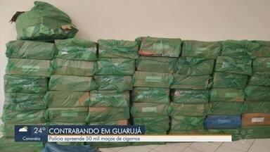 Policia Militar apreende carga de cigarros contrabandeados em Guarujá - Caso foi encaminhado para a Polícia Federal, em Santos.
