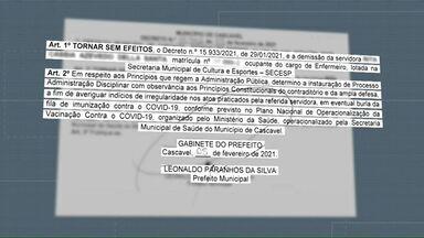 Prefeitura de Cascavel revoga demissão de servidora - Ela é suspeita de ter furado a fila pra receber a dose da vacina contra a Covid-19.