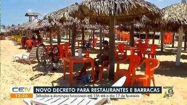 Praia da Barra registra movimentação tranquila no primeiro fim de semana de restrição - Saiba mais em: g1.com.br/ce
