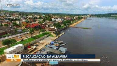 Prefeitura decreta fechamento de praias e balneários de Altamira, no Pará - Prefeitura decreta fechamento de praias e balneários de Altamira, no Pará