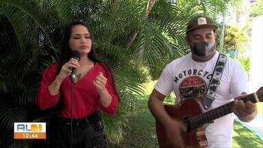Cantora Flávia Felix lança projeto com clássicos da música brasileira - Flávia Felix, cantora de Alagoas, mostrou seu trabalho no AL1.