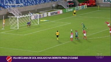 Vila Nova perde para o Cuiabá no jogo de ida das quartas de final da Copa Verde - Tigrão joga bem na Arena Pantanal, mas sai derrotado por 1 a 0.