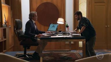 Giovanni pede ajuda a Aparício para conversar com Camila - O empresário afirma que já tentou se aproximar da sobrinha mas não conseguiu