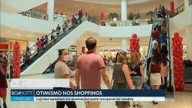 Shoppings acreditam em aumento nas vendas - Os lojistas apostam nas promoções para atrair os clientes.